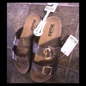 "Mudd ""Birkenstock-style""  Women's Buckle sandals"